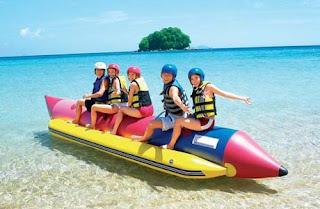 rekreasi banana boat