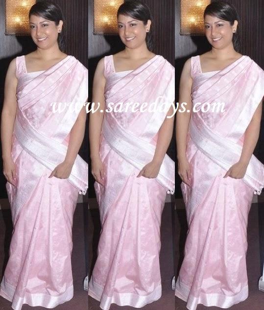 Latest saree designs baby pink raw silk saree baby pink raw silk saree altavistaventures Images