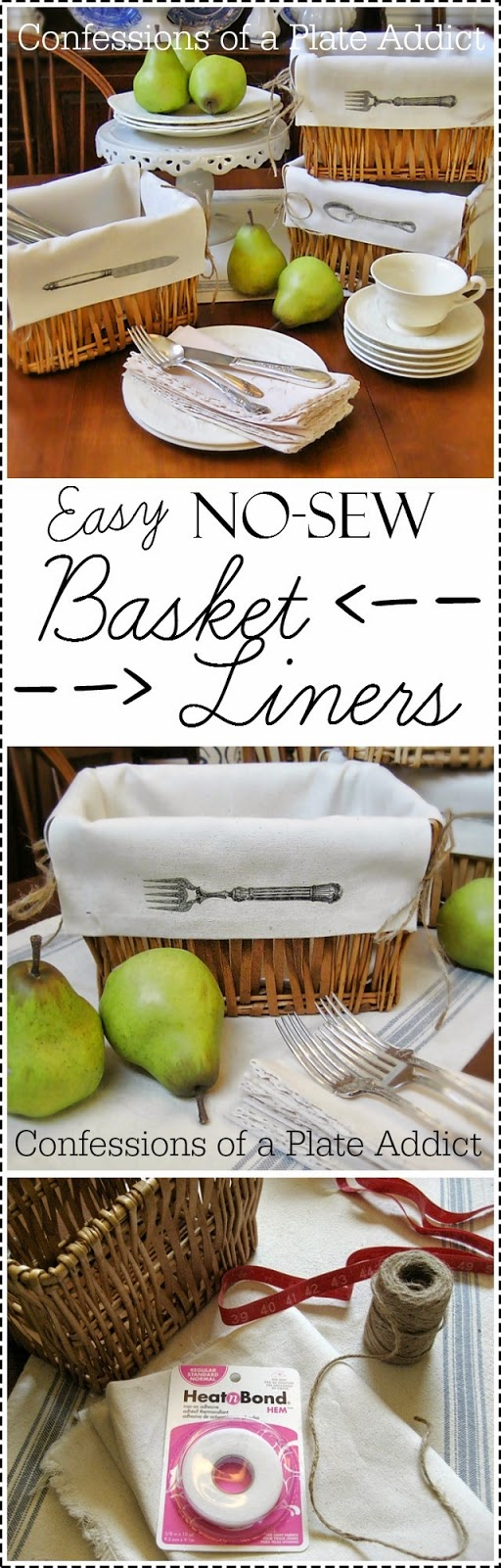 CONFESSIONS OF A PLATE ADDICT Fun And Easy No Sew Basket