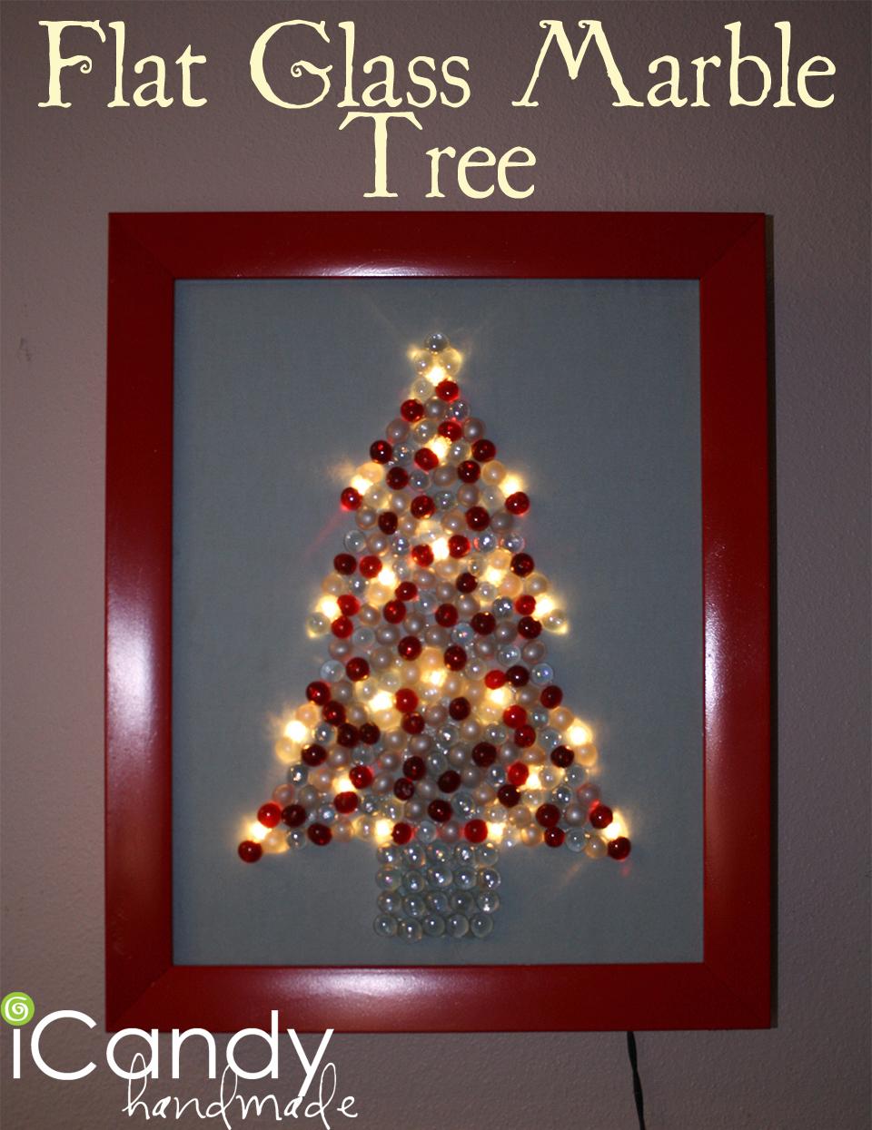 Flat Glass Marble Tree