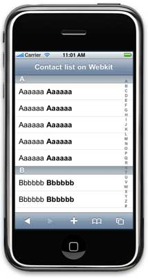 phone contact list