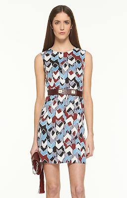 Cube Print Dress