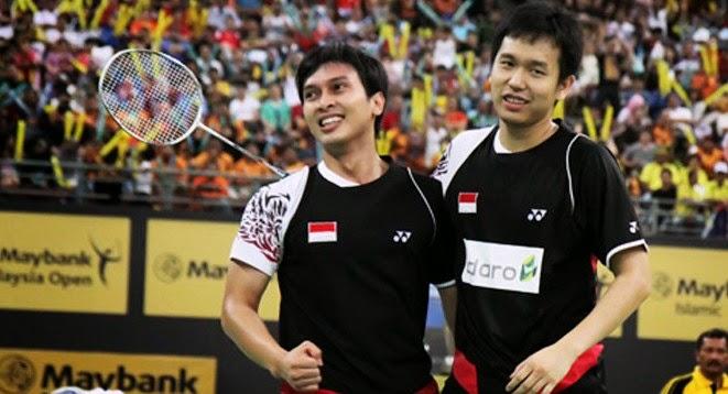 Pasangan ganda putra Indonesia Hendra Setiawan/Muhammad Ahsan
