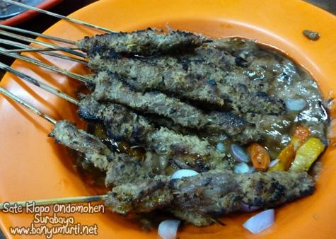Kuliner Surabaya - Sate Klopo Ondomohen