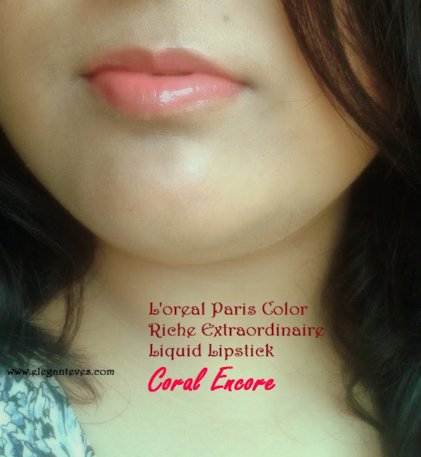 L'oreal Paris Color Riche Extraordinaire Lip color #Coral Encore