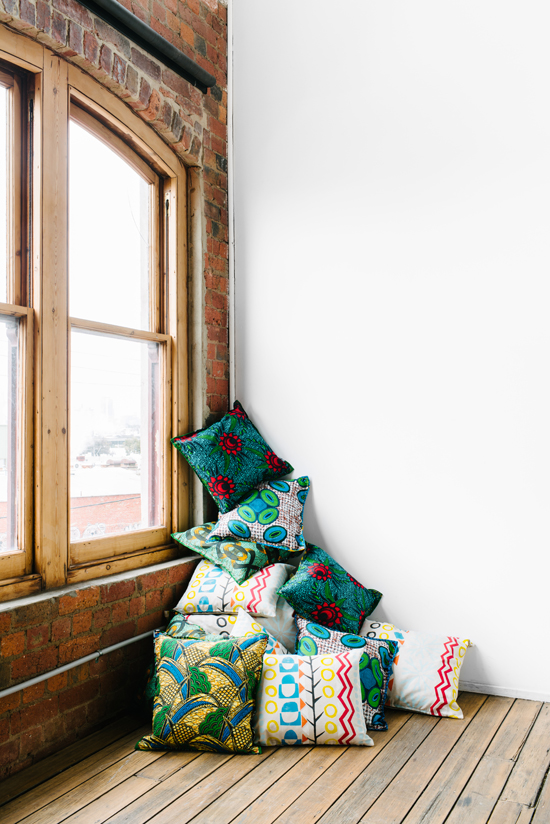 Safari Fusion blog | Cushion stack | Block print Safari Cushions and Chitenche fabric Cushions by Safari Fusion