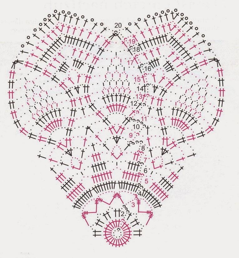 Согласно схеме вяжем по кругу.