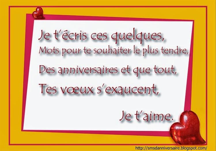 Sms D Amour 2018 Sms D Amour Message Sms D Anniversaire Pour 45 Ans