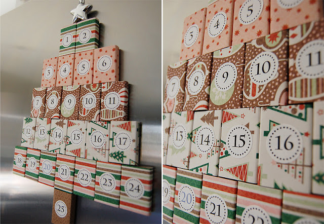 DIY Magnetic Matchbox Advent Calendar