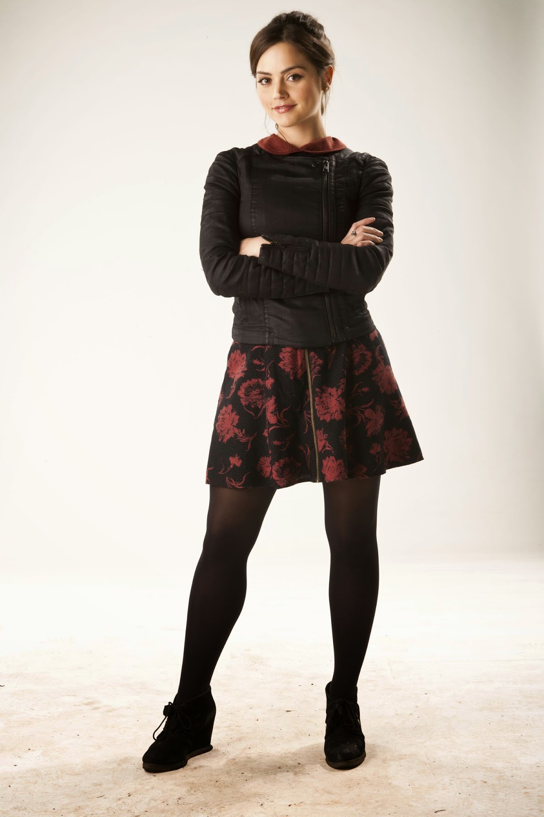 Celebrity Hosiery Jenna Coleman