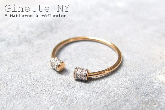Bague Ginette NY or rose diamants