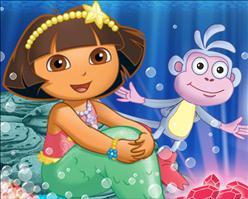 Makeup Games Online on Play Dora S Mermaid Adventure Game Game   Play Nick Jr Games Online