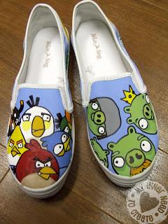 Handmade Angry Bird Shoes