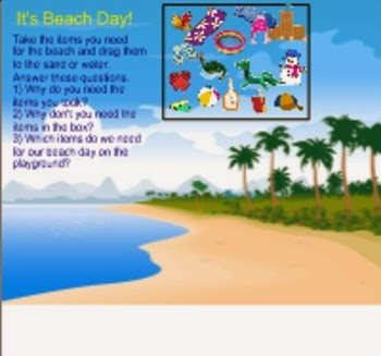 http://www.teacherspayteachers.com/Product/Beach-Day-in-Kindergarten-675116