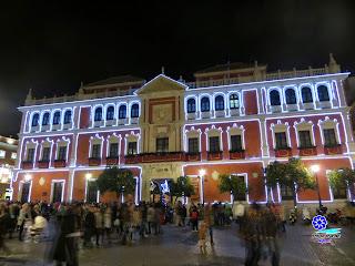 Sevilla - Alumbrado navideño 2014 - Plaza de San Francisco