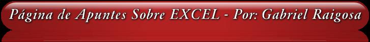 Página de Apuntes Sobre Excel