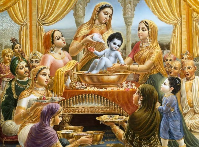 Baby Krishna with Brajwasi