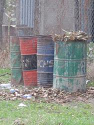 Four distressed barrels, Aweil