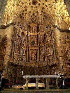 Retablo Mayor en la Catedral de Barbastro (Somontano, Huesca, Aragón, España)