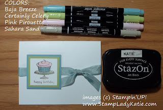 Card made with Stampin'UP! Stamp Set: Easy Events and Crystal Effects