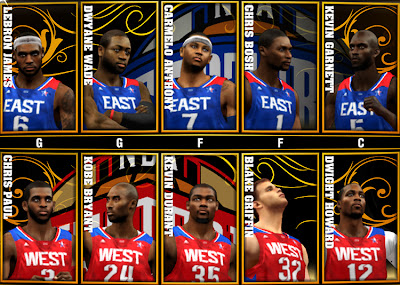 NBA 2K13 PC All-Star Game 2013 Roster