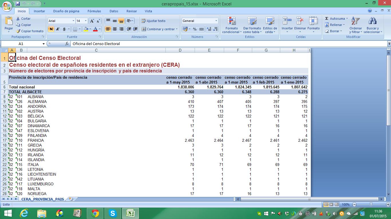 El andaluz desubicado 2015 for Oficina del censo electoral