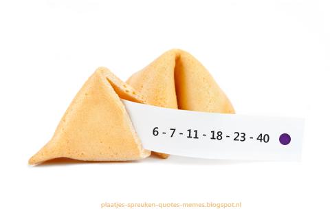 geluksgetallen voor de lotto