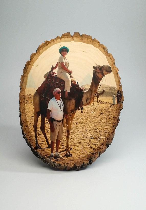 نموذج لتقنية طباعة الصور على الخشب
