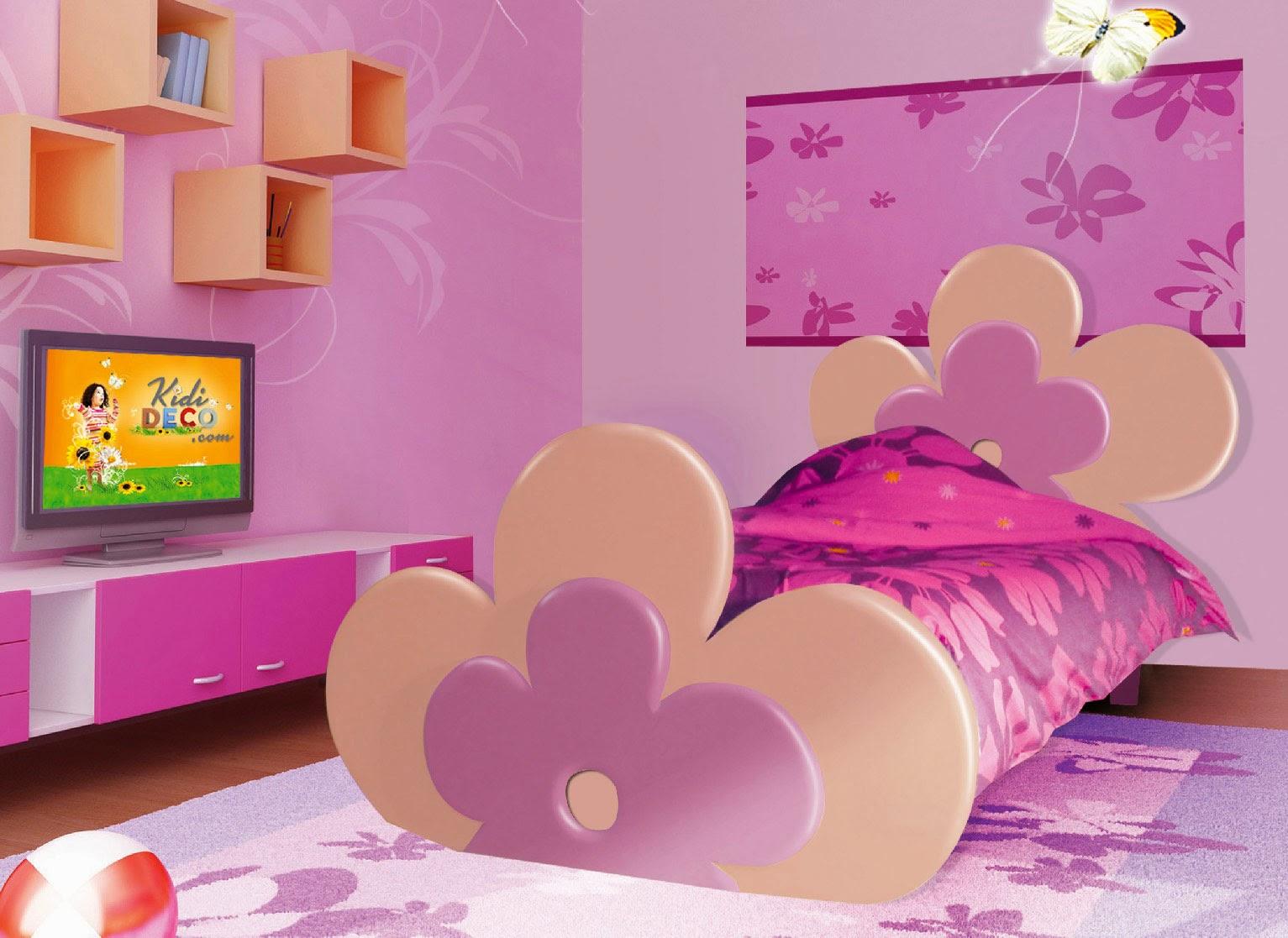 D coration et bricolage chambre coucher fillettes for Modele chambre a coucher 2014