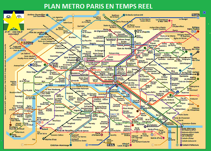metro paris plan