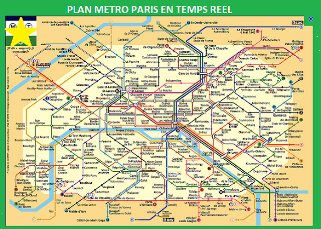 Metro map in Paris