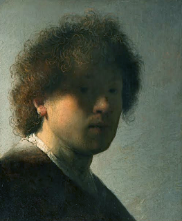 Self portrait at an early age Rembrandt