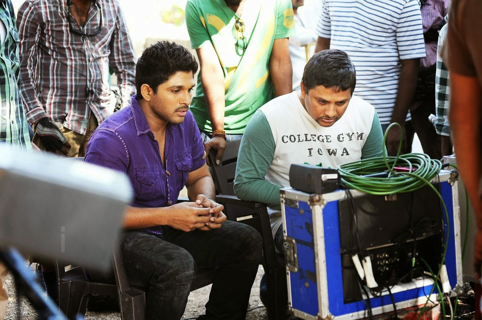 Race Gurram Working Stills Race Gurram Movie Working