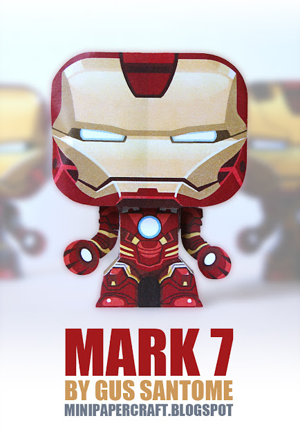 Iron Man Mini Mark 6 7 Armor Paper Toy