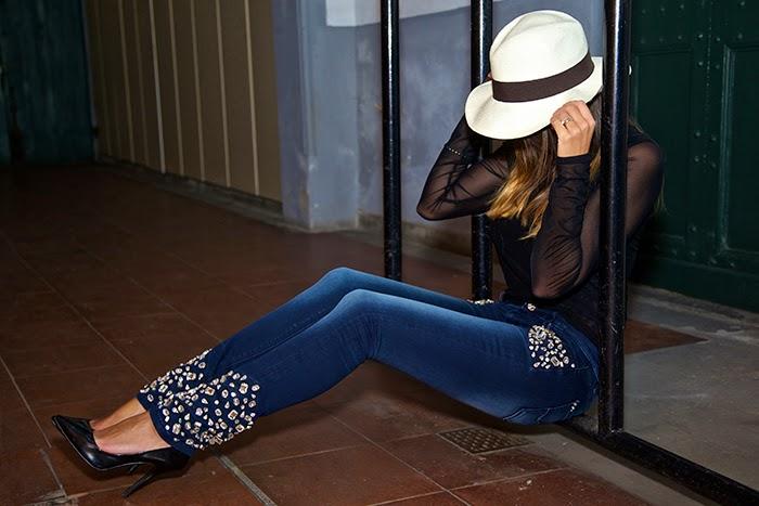 jeans con swarovsky