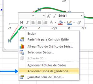 Excel - linha de tendência