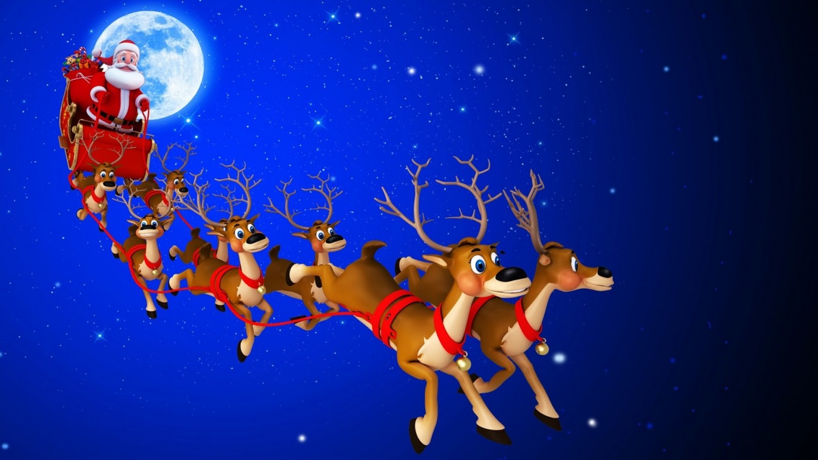 Santa Claus with Gift Wallpaper - WallpapersXplore | Free ...