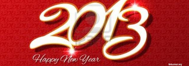 Ảnh bìa chúc mừng năm mới - Happy New Year 2013