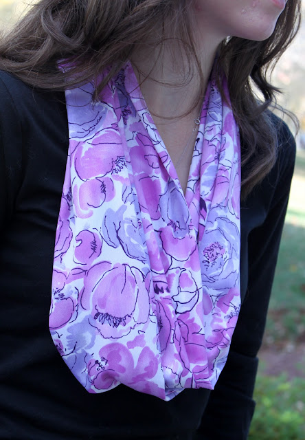 sewing infinity scarf
