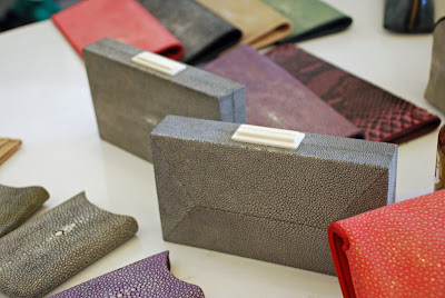 Stingray leather clutches by Namu in Seminyak, Bali