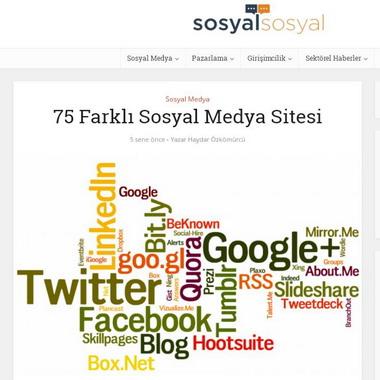 sosyalsosyal com - 75 farklı sosyal medya sitesi