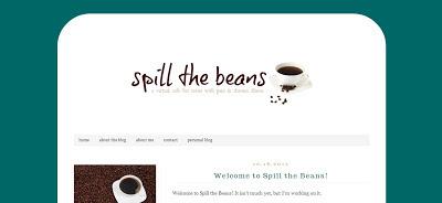 spill the beans :: new blog launch