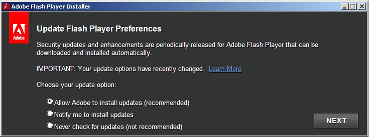 adobe flash player update for windows