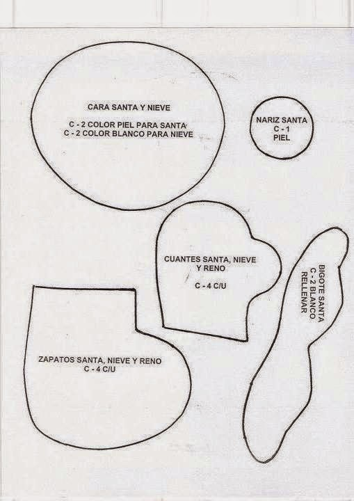 Mueble Joyero Ikea ~ NATAL FELTRO FELTRO MOLDES ARTESANATO EM GERAL Bloglovin u2019