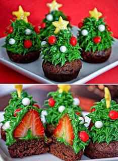 Pratos para ceia de natal - sobremesas com morango