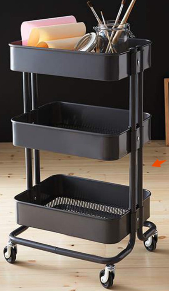 according to ame totally obsessed ikea raskog cart. Black Bedroom Furniture Sets. Home Design Ideas