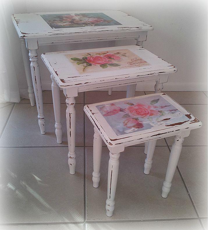 French a la beach antique floral shabby chic nest
