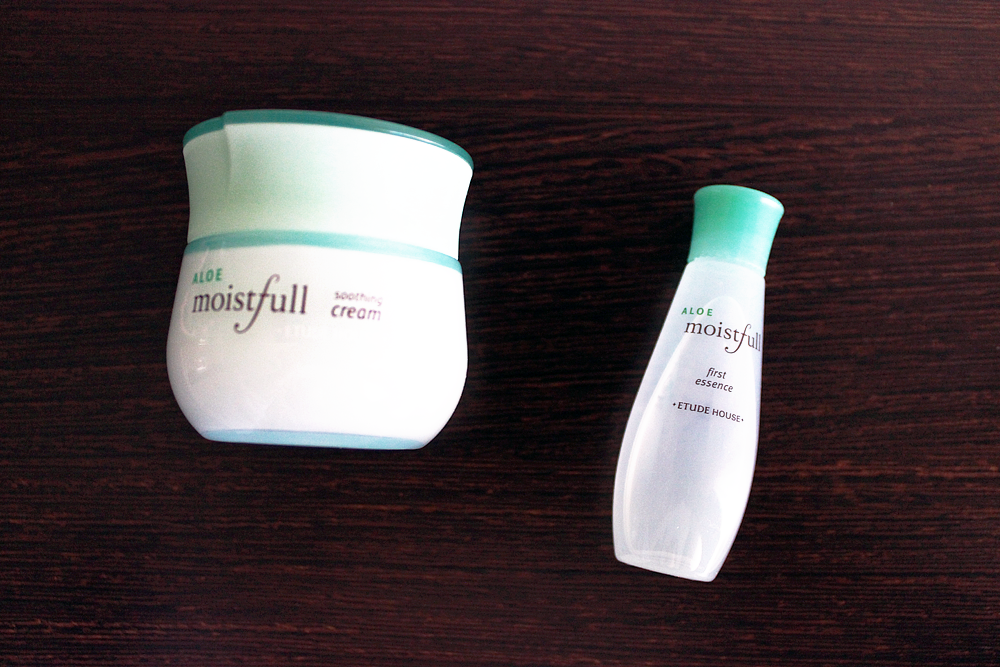 Etude House Moistfull Aloe Cream and Moistfull Aloe First Essence review