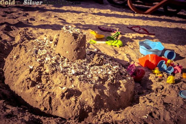 sand, castle, sand castle, beach, beach toys