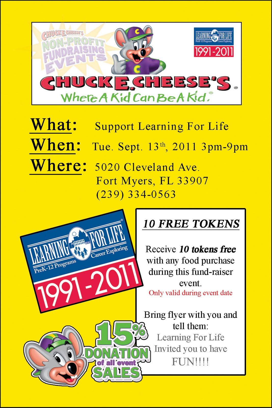 chuck e cheese fundraiser